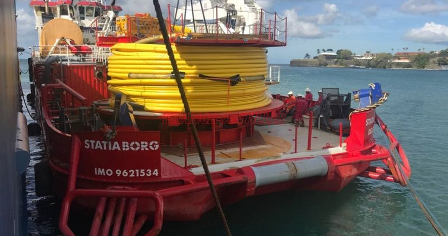 Cable laying equipment on Statiaborg