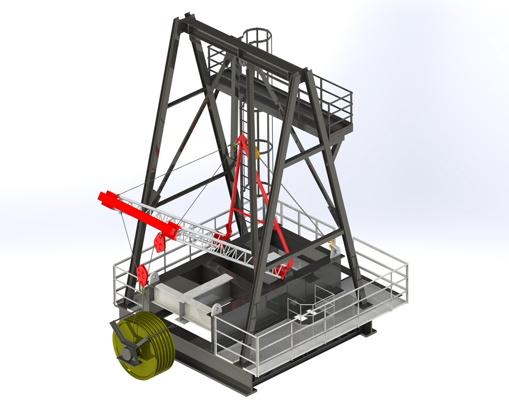 Wagenborg has a lightweight lifting system available to support exchange of heavy components at height