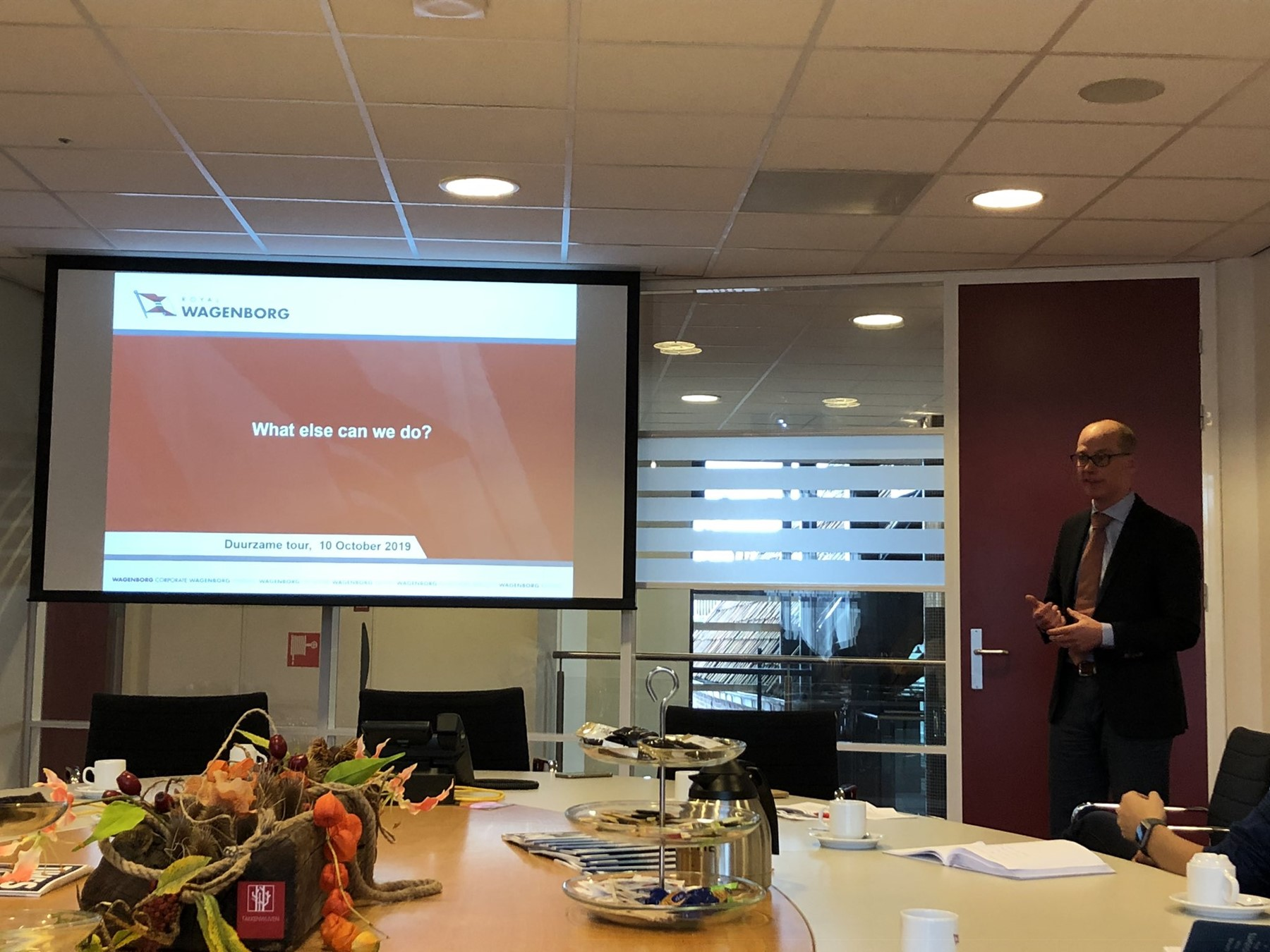 Fleet development Manager Wieger Duursma explained about the successful focus on ship efficiency and fuel reduction of Wagenborg.