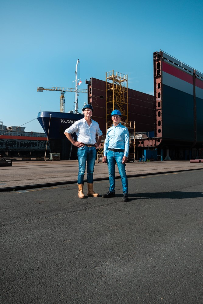 Haije Stigter (left) and Ludo van Hijfte offer companies the opportunity to drastically reduce their CO2 emissions within a few years.