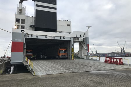 Bothniaborg deviated to Antwerp for a full cargo of northbound ROROs