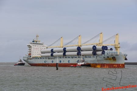 Wagenborg serves the bulk vessel Tian Lu in Eemshaven